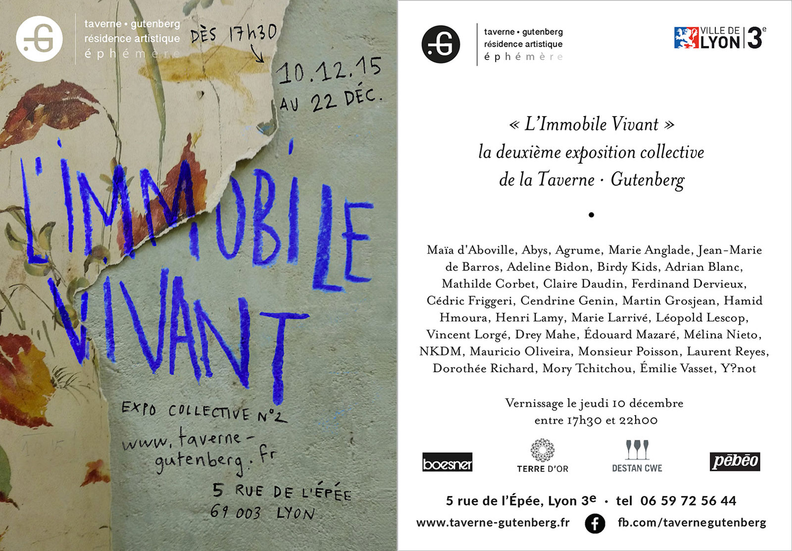 Affiche de l'exposition collective L'Immobile Vivant